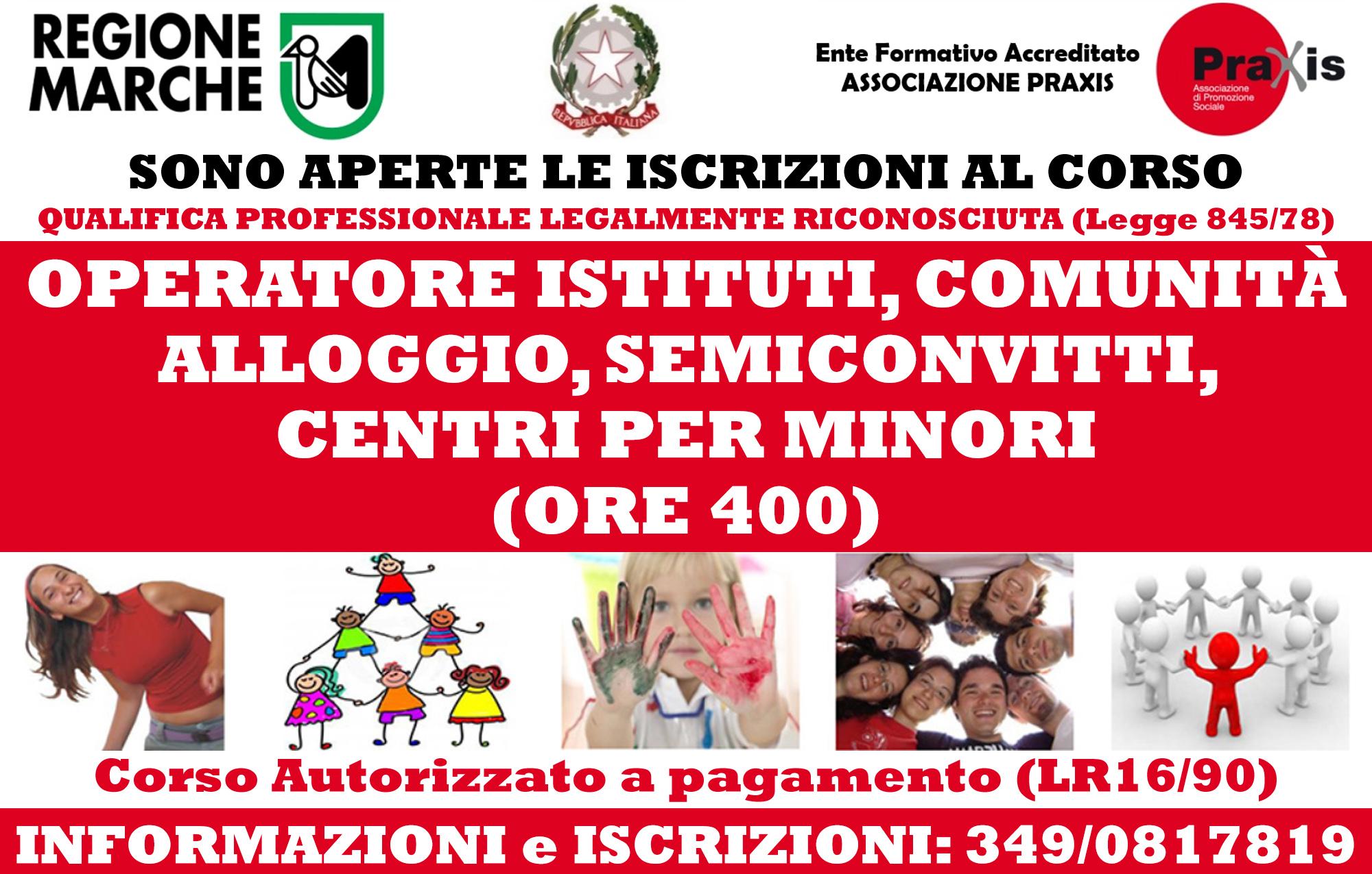 BANNER CORSO DI QUALIFICA OPERATORE DI COMUNITA