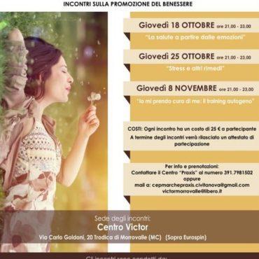 MESE DELLA PREVENZIONE PRAXIS TRODICA DI MORROVALLE 2018 ANNO 16° – Io E il Mio Ben-Essere
