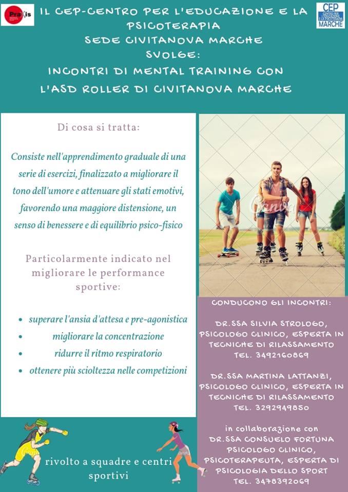 Mental Training per lo Sport insieme ad Associazione Praxis CEP Marche