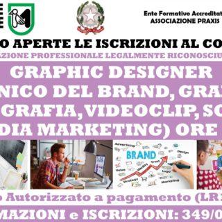 CORSI GRAPHIC DESIGNER TECNICO DEL BRAND DESIGN, GRAFICO, FOTOGRAFIA, VIDEOCLIP, SOCIAL MEDIA MARKETING (LEGALMENTE RICONOSCIUTO SPECIALIZZAZIONE PROFESSIONALE )