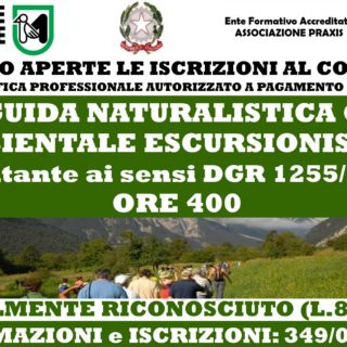 CORSO DI QUALIFICA PROFESSIONALE LEGALMENTE RICONOSCIUTO E ABILITANTE GUIDA NATURALISTICA O AMBIENTALE ESCURSIONISTICA