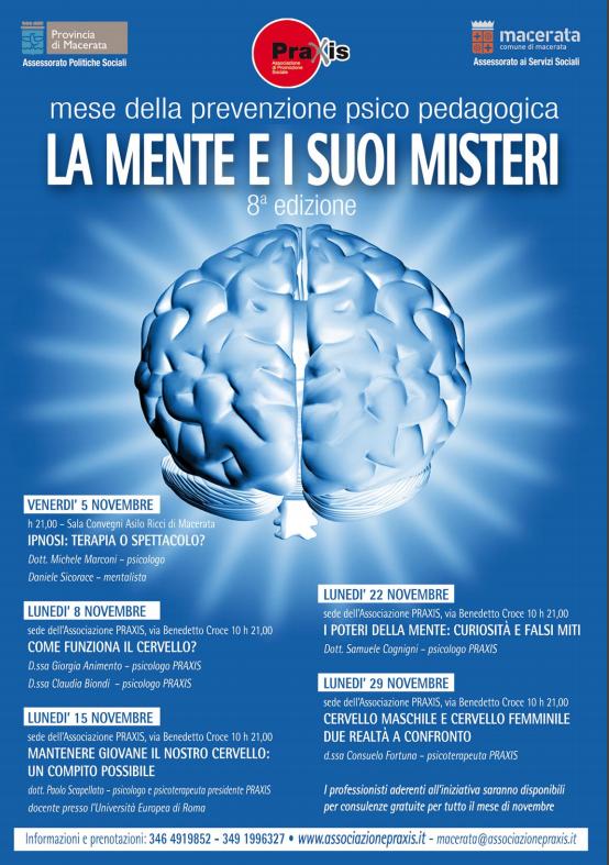 MESE DELLA PREVENZIONE PRAXIS 2010 ANNO 8° – LA MENTE E I SUOI MISTERI