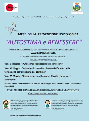 Mese della Prevenzione Praxis 2013 Anno 11° Sede Ascoli Piceno – Autostima e Benessere
