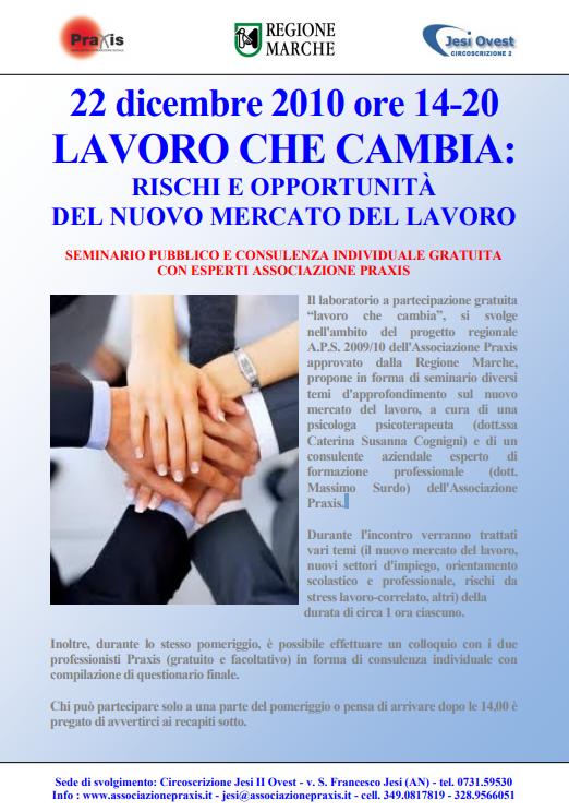 Progetto LAVORO CHE CAMBIA