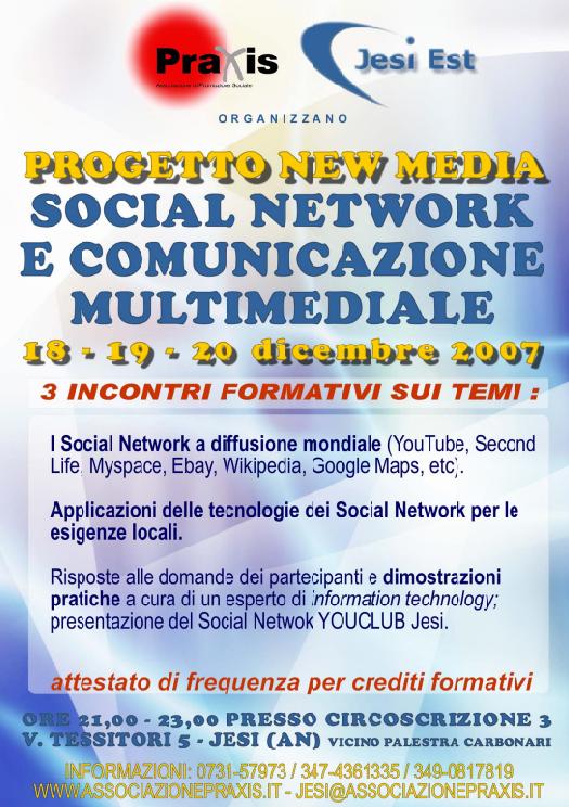 Progetto NEW MEDIA – Social Network e Comunicazione Multimediale