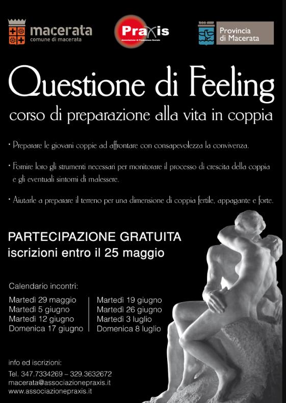 Progetto QUESTIONE DI FEELING – Corso di preparazione alla vita in coppia