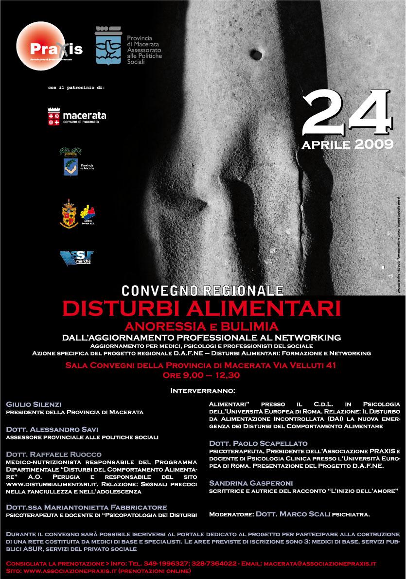 Progetto DAFNE: il primo convegno regionale sui disturbi alimentari