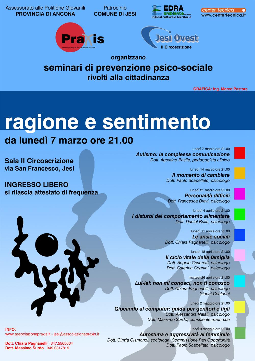 MESE DELLA PREVENZIONE PRAXIS 2005 ANNO 3° – Ragione e Sentimento