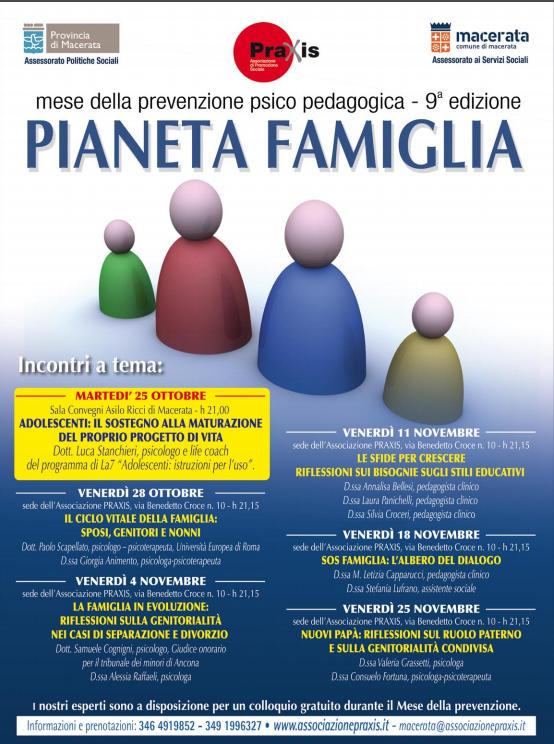 Mese della Prevenzione Praxis 2011 anno 9° – Pianeta Famiglia