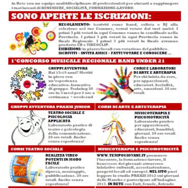 Progetto TEMPOGIOVANI – Iniziative Sociali Praxis per i Giovani