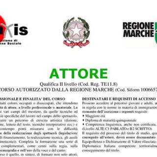 CORSI ATTORE (LEGALMENTE RICONOSCIUTO QUALIFICA PROFESSIONALE )