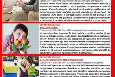 CORSI BREVI DI AGGIORNAMENTO SETTORE SOCIALE (RICONOSCIUTI)