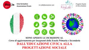 CORSO DALL'EDUCAZIONE CIVICA ALLA PROGETTAZIONE SOCIALE