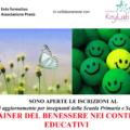CORSO PER INSEGNANTI DI TRAINER DEL BENESSERE NEI CONTESTI EDUCATIVI